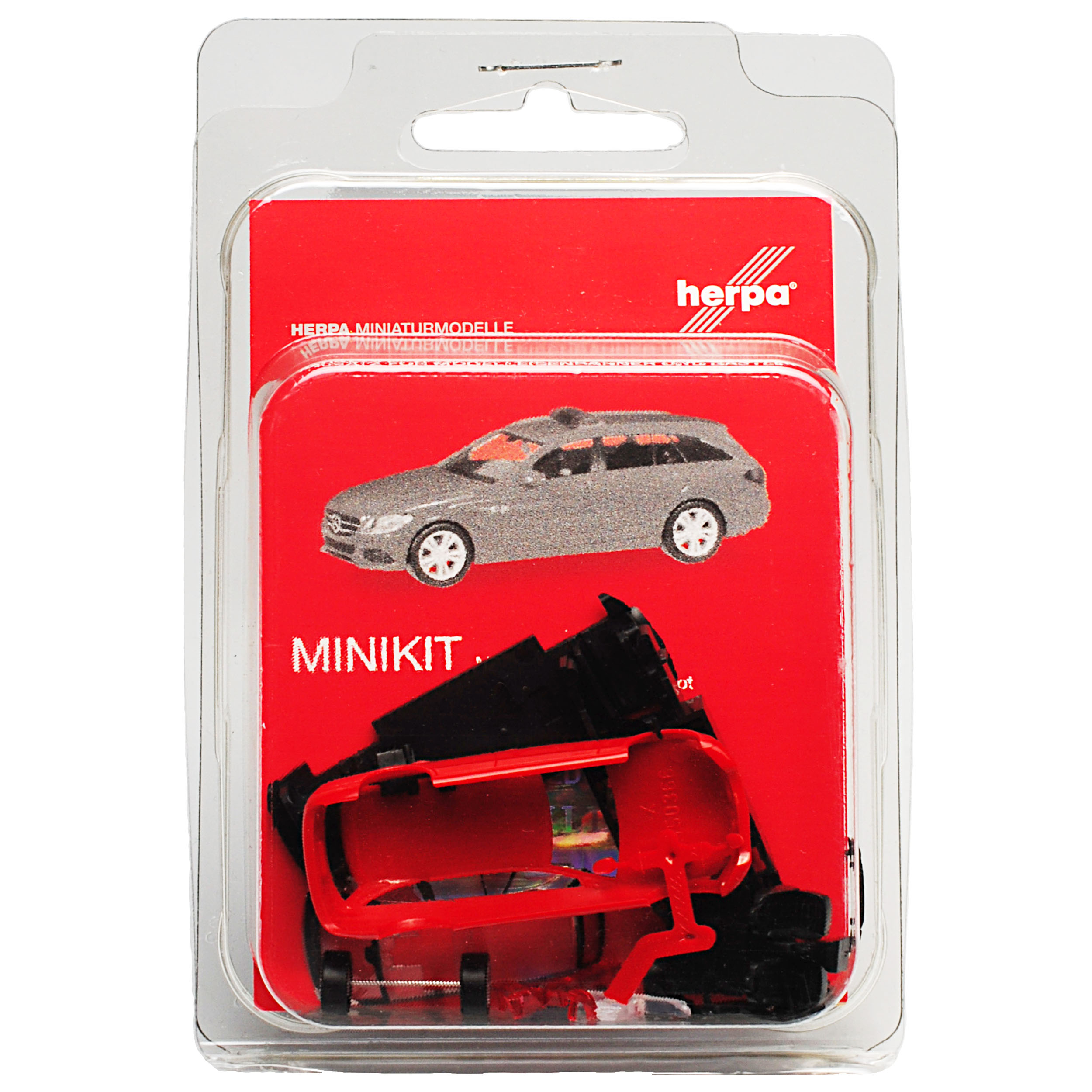 Mercedes-Benz-Classe-C-Modele-T-W205-Break-Rouge-Ab-2014-Kit-Kit-avec-Socle miniature 5