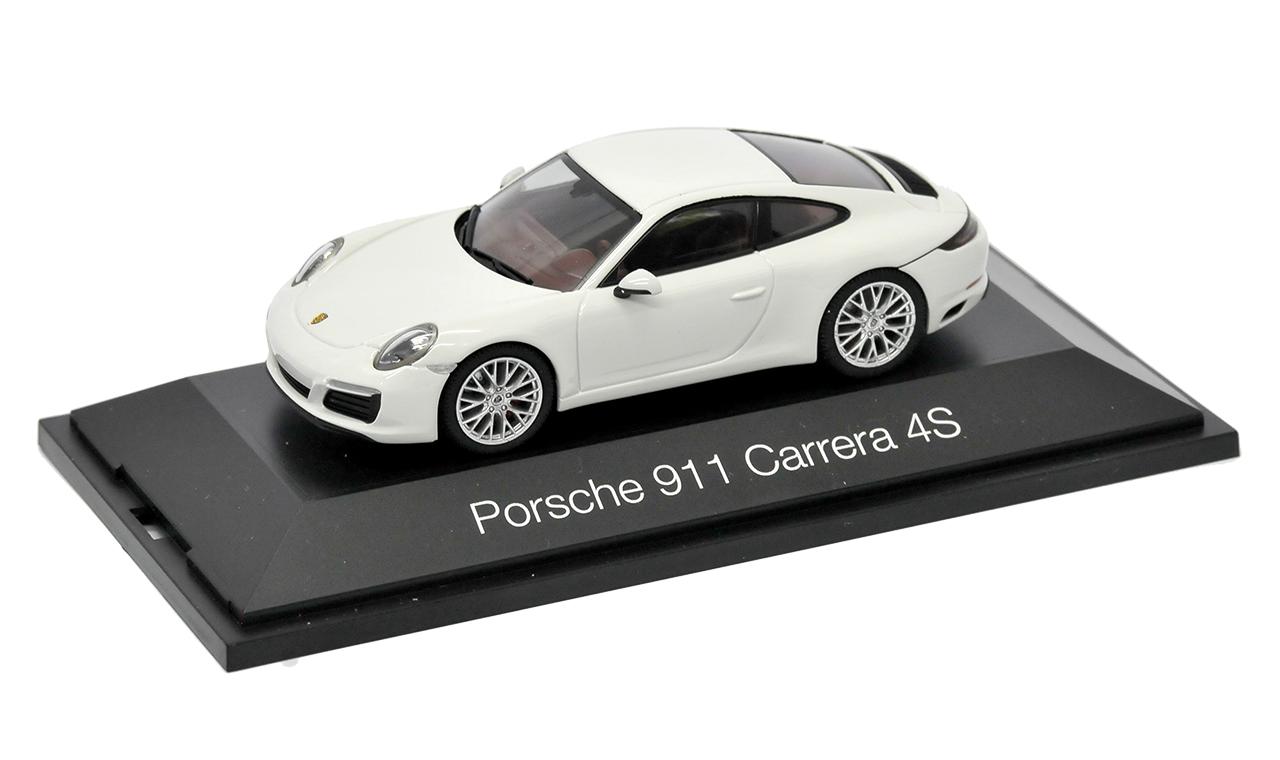 Porsche Porsche Porsche 911 991 Carrera 4S Coupe Weiss Modell Ab 2012 1 43 Herpa Modell Auto m.. 3324b3