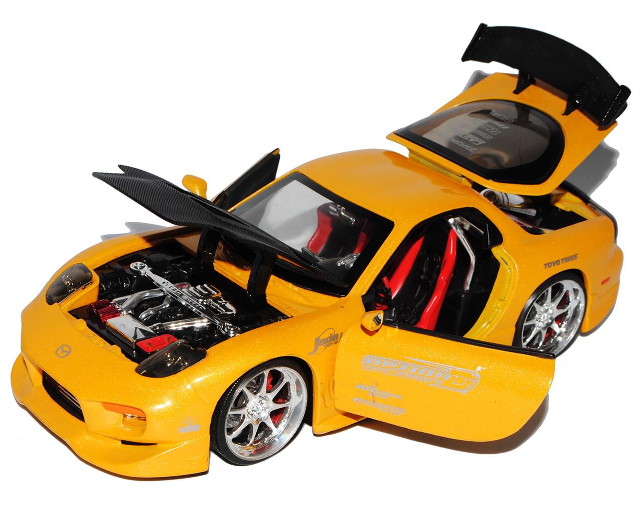 Mazda RX-7 Schwarz 1991-2002 1//32 Jada Modell Auto mit oder ohne individiuelle..