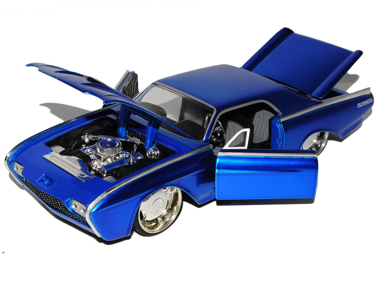 Pósters especiales Ford Thunderbird Coupe azul 1963 1//24 jada modelo coche con o sin