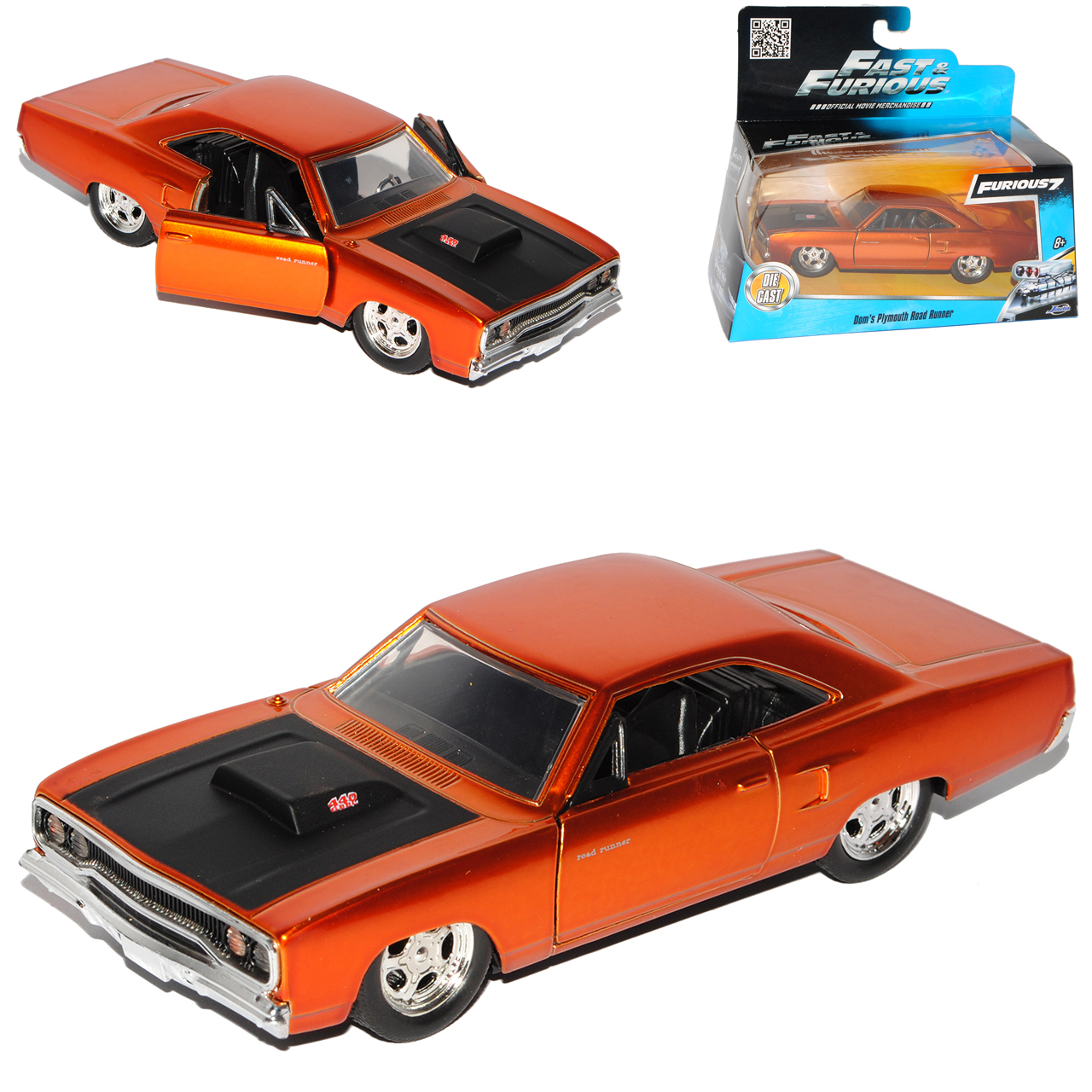 1//24 Scale Dom/'s Plymouth Road Runner Bronze Fast /& Furious