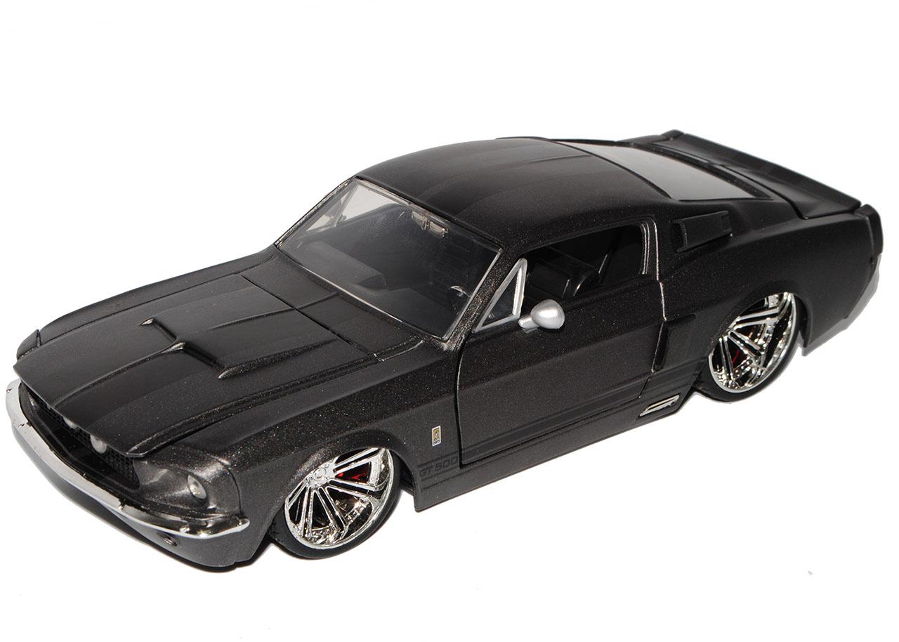 Ford-Mustang-Shelby-GT500-1967-Eleanor-Matt-Schwarz-mit-Schwarz-Coupe-1-24-Jad miniatuur 8