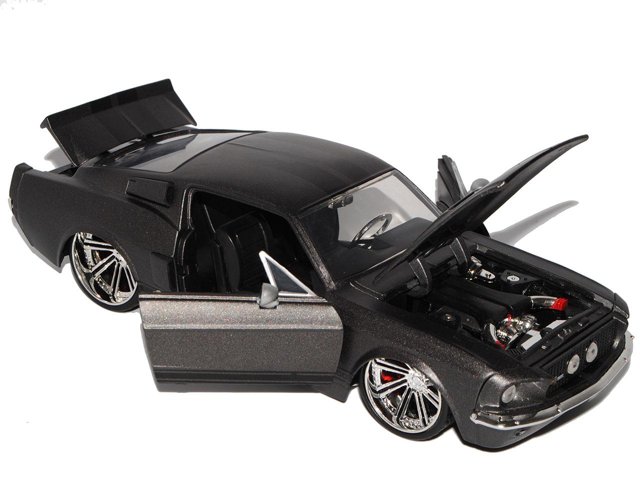 Ford-Mustang-Shelby-GT500-1967-Eleanor-Matt-Schwarz-mit-Schwarz-Coupe-1-24-Jad miniatuur 9
