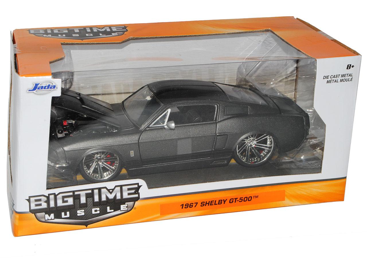 Ford-Mustang-Shelby-GT500-1967-Eleanor-Matt-Schwarz-mit-Schwarz-Coupe-1-24-Jad miniatuur 10