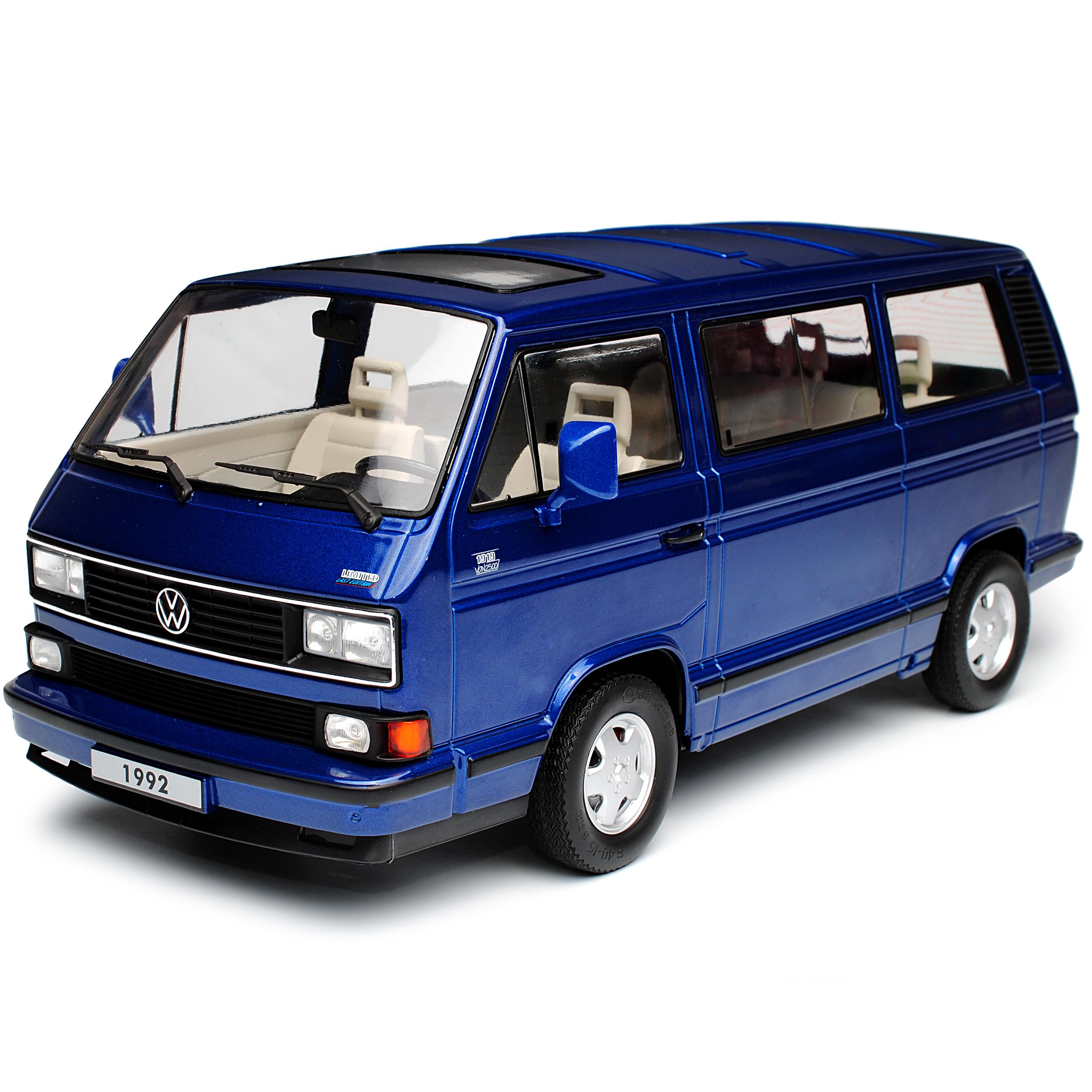 VW Volkswagen T3 Bus Multivan blue Transporter 1979-1992 1979-1992 1979-1992 limitiert 1 von 1750 .. aea46c