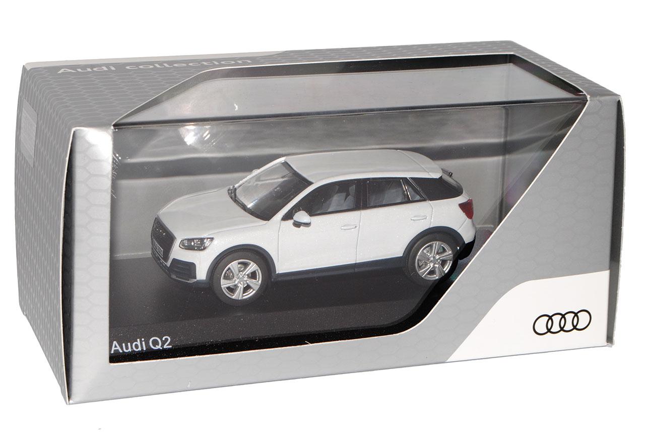 Audi Q2 SUV Gletscher Weiss Ab 2016 2016 2016 1 43 Kyosho iScale Modell Auto mit oder oh.. 90ba1d