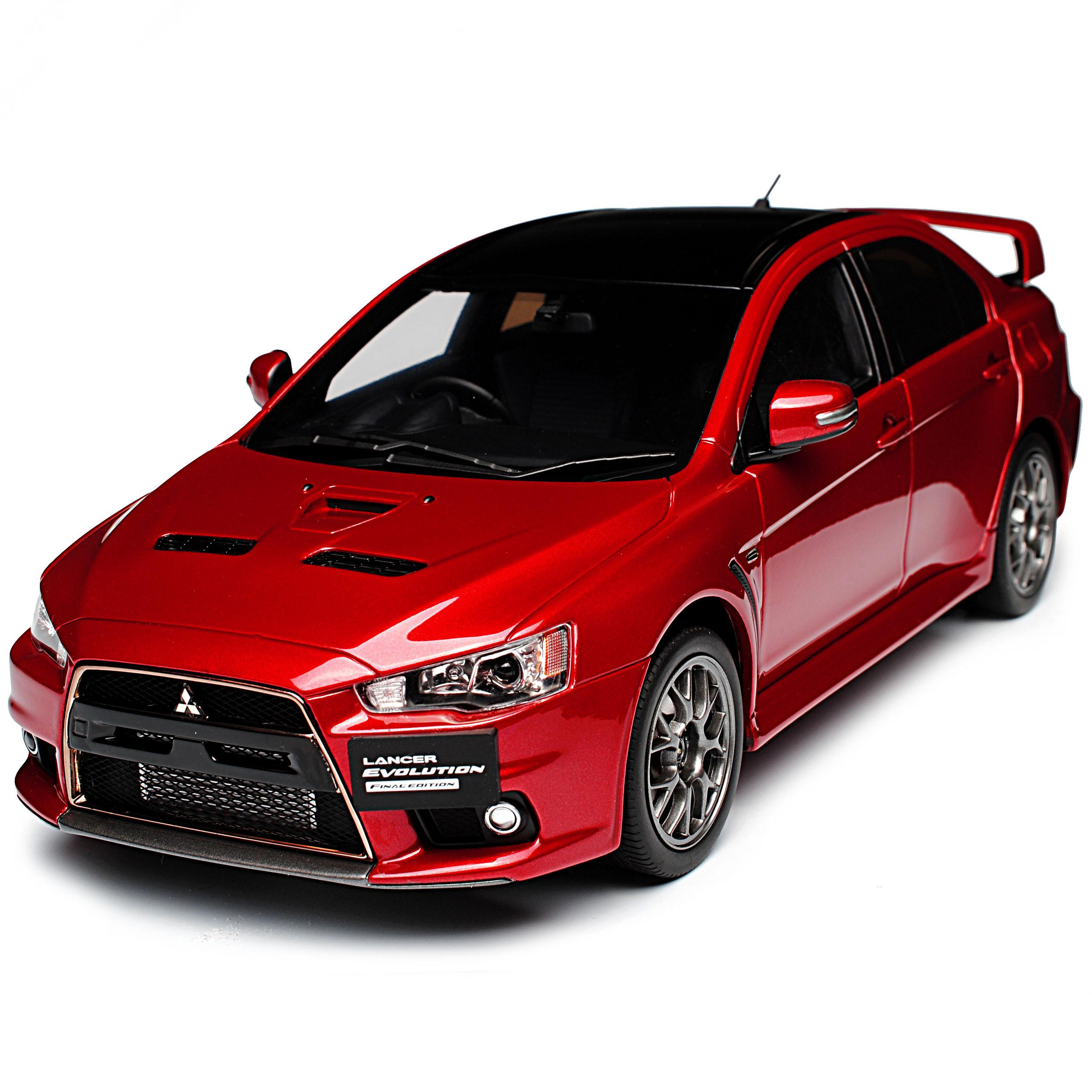 Mitsubishi-Lancer-Evolution-Evo-X-Final-Edition-rojo-2007-2017-1-18-Kyosho-moda miniatura 7