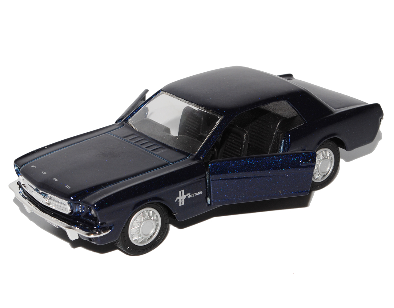 Ford-Mustang-1964-Coupe-1-Generation-azul-oscuro-casi-negro-1-43-maisto-mod miniatura 6