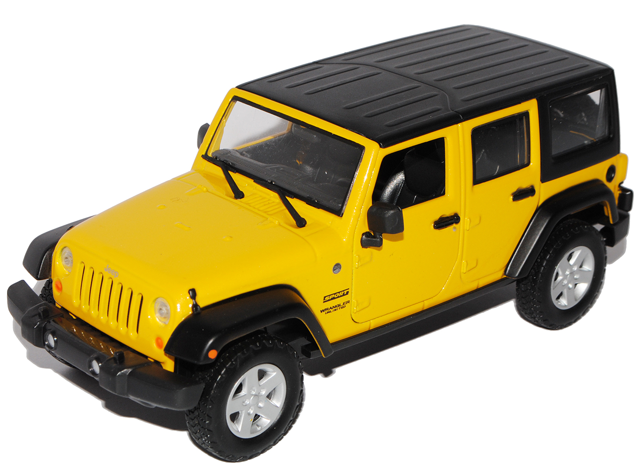 Jeep Wrangler JK unlimited 5 5 5 puerta amarilla del 2007 1 24 Maisto modelos coches con od... 1eb405