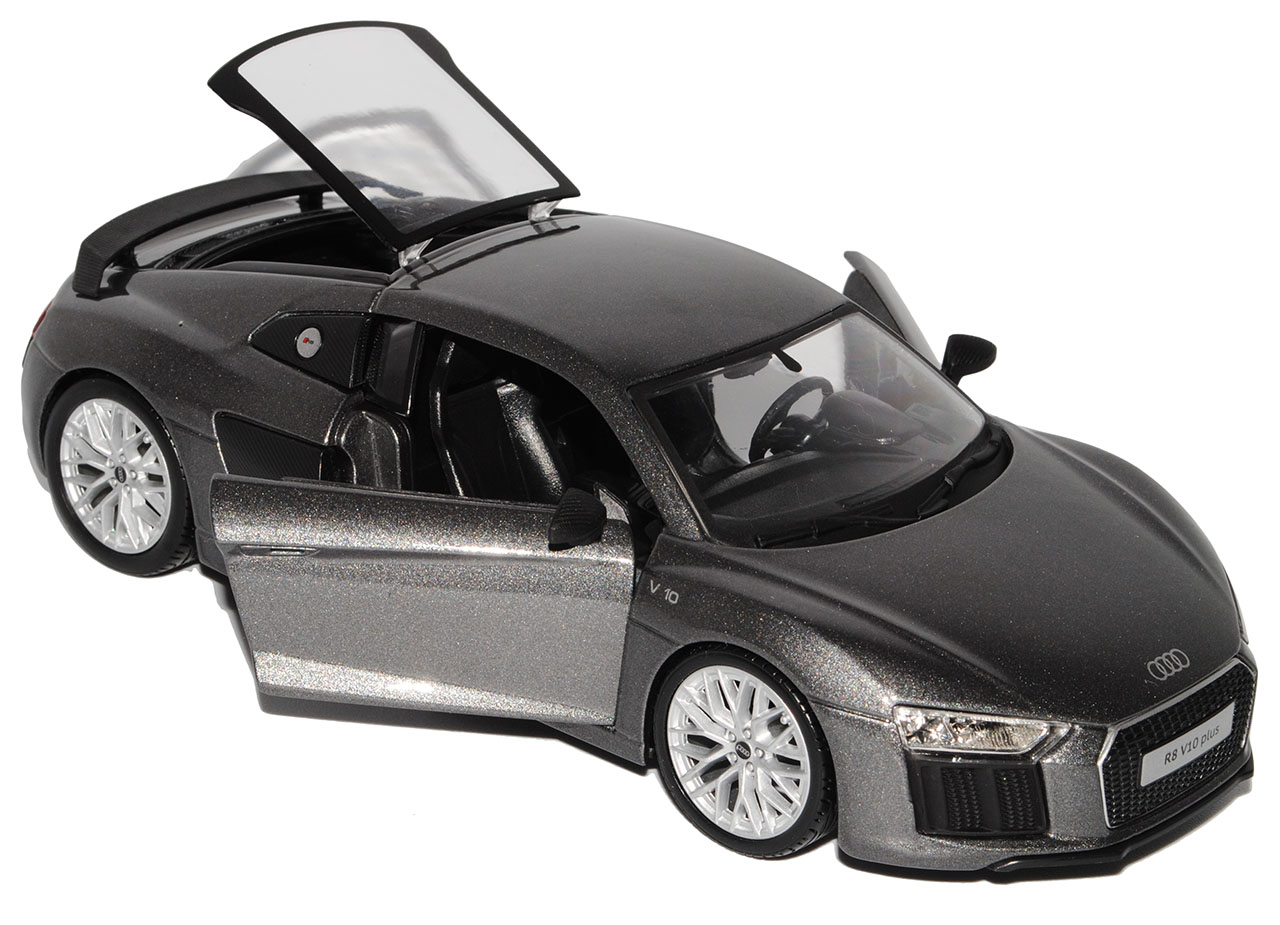 Audi R8 Coupe Silber Grau neuestes Modell 2 Generation ab 2015 1//24 Maisto Mode