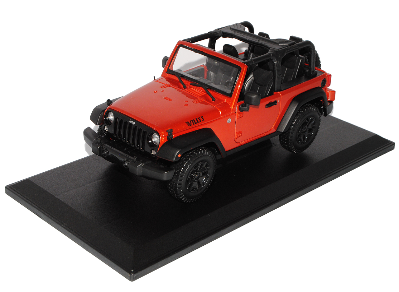 Jeep Jeep Jeep Wrangler 2014 Willis Orange Rot Cabrio JK Ab 2007 1 18 Maisto Modell Auto..    Geeignet für Farbe  00d2b9