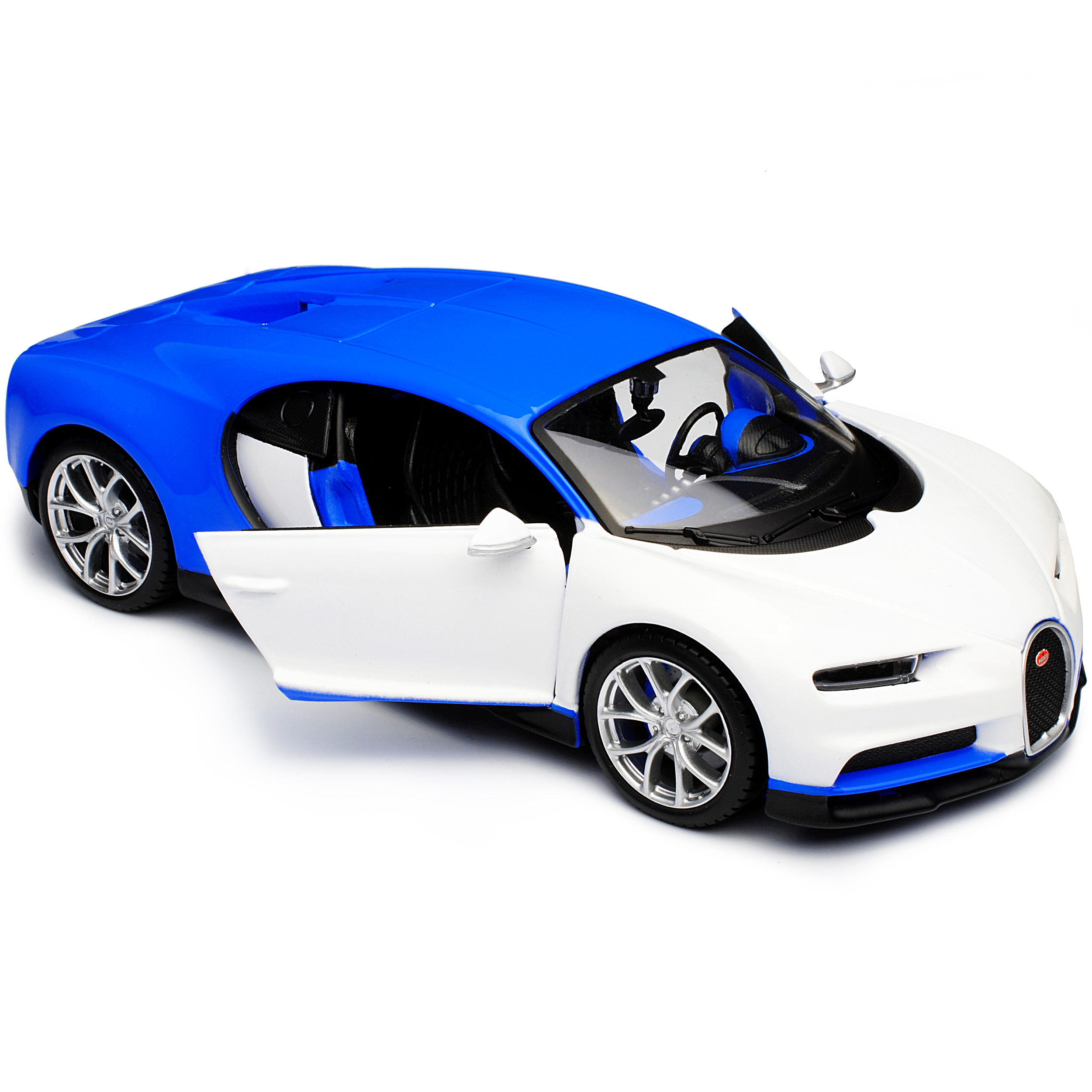 Bugatti Chiron Coupe Blau Weiss Tuning Version Ab 2016 1//24 Maisto Modell Auto..