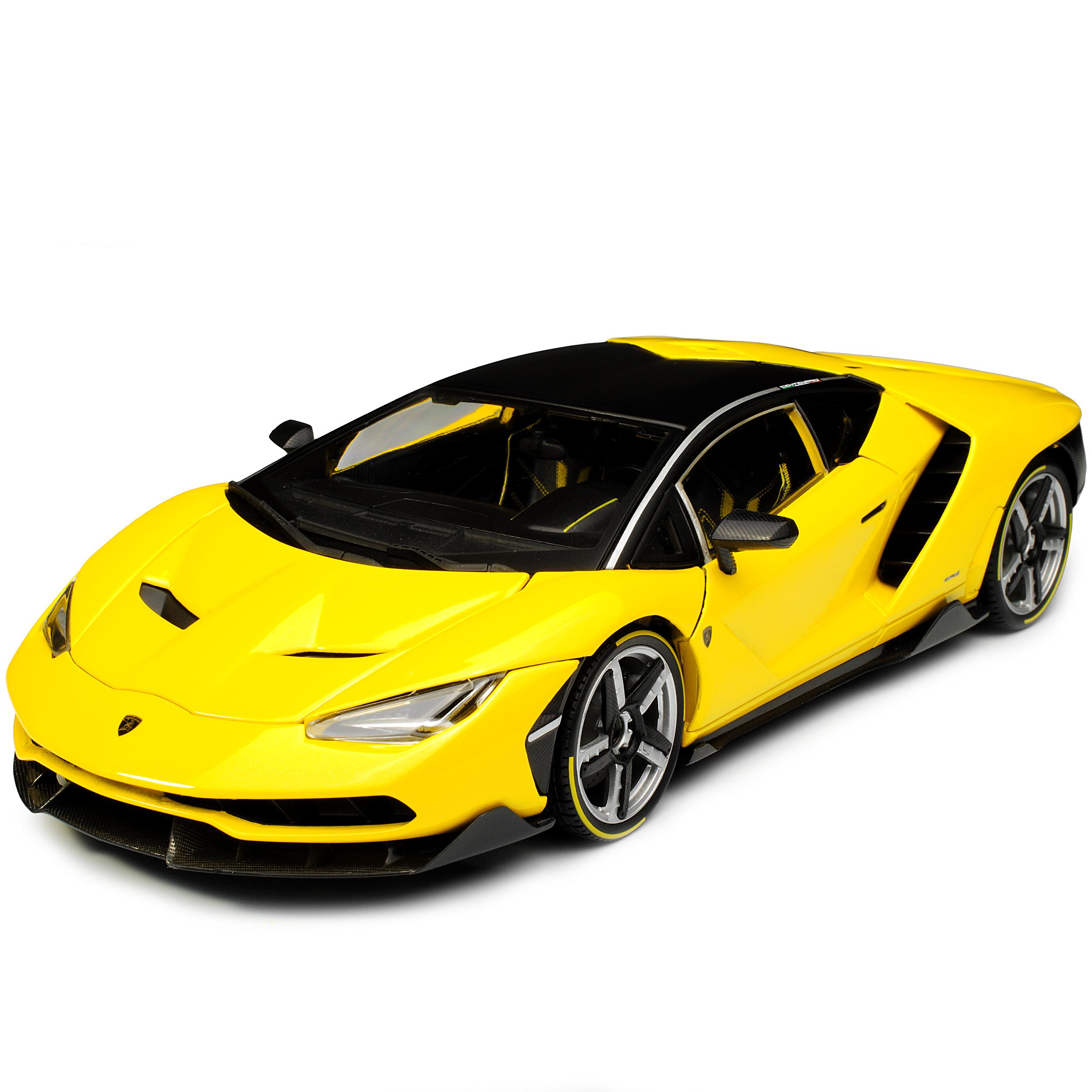 Amarillo Lamborghini Centenario LP770-4 Coupe negro de la la la colección exclusiva de 2016... fd69b5
