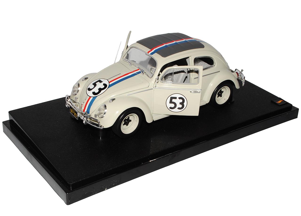 VW-Volkswagen-Beetle-Herbie-no-53-la-moda-de-las-ruedas-calientes-de-Mattel-LOVEBUG-1962-1-18 miniatura 6
