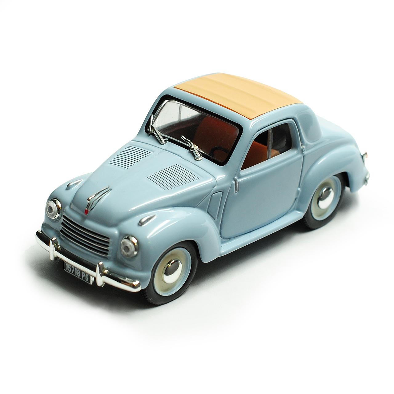 Fiat 500 Topolino Blau 1936-1955 Mit Sockel 1/43