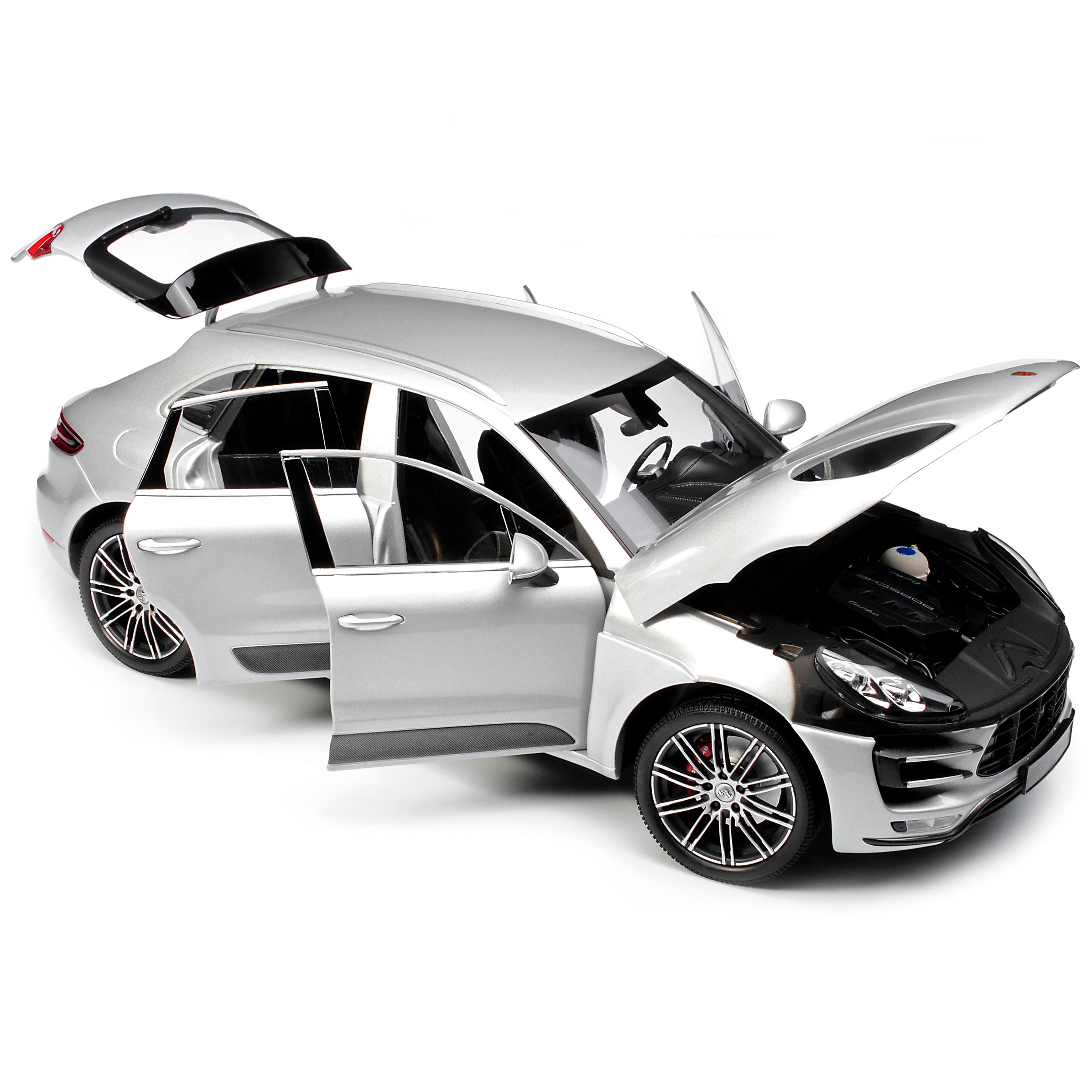 Porsche Macan Turbo Silber Metallic Ab 2014 1//18 Minichamps Modell Auto mit od..