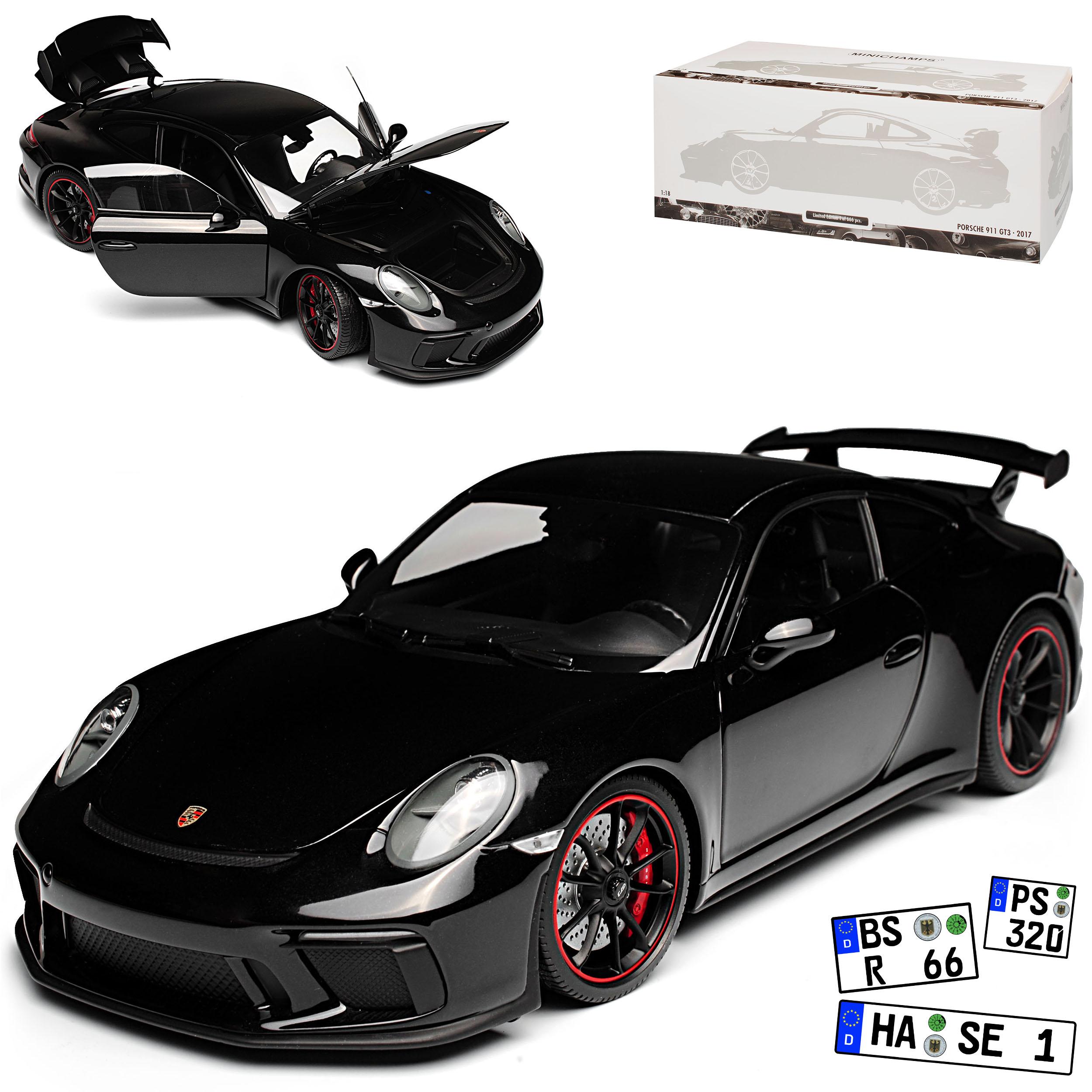 calidad de primera clase Porsche 911 991 991 991 gt3 coupé negro metálico modelo 2013-2019 versión a partir de 2017 Li...  precioso