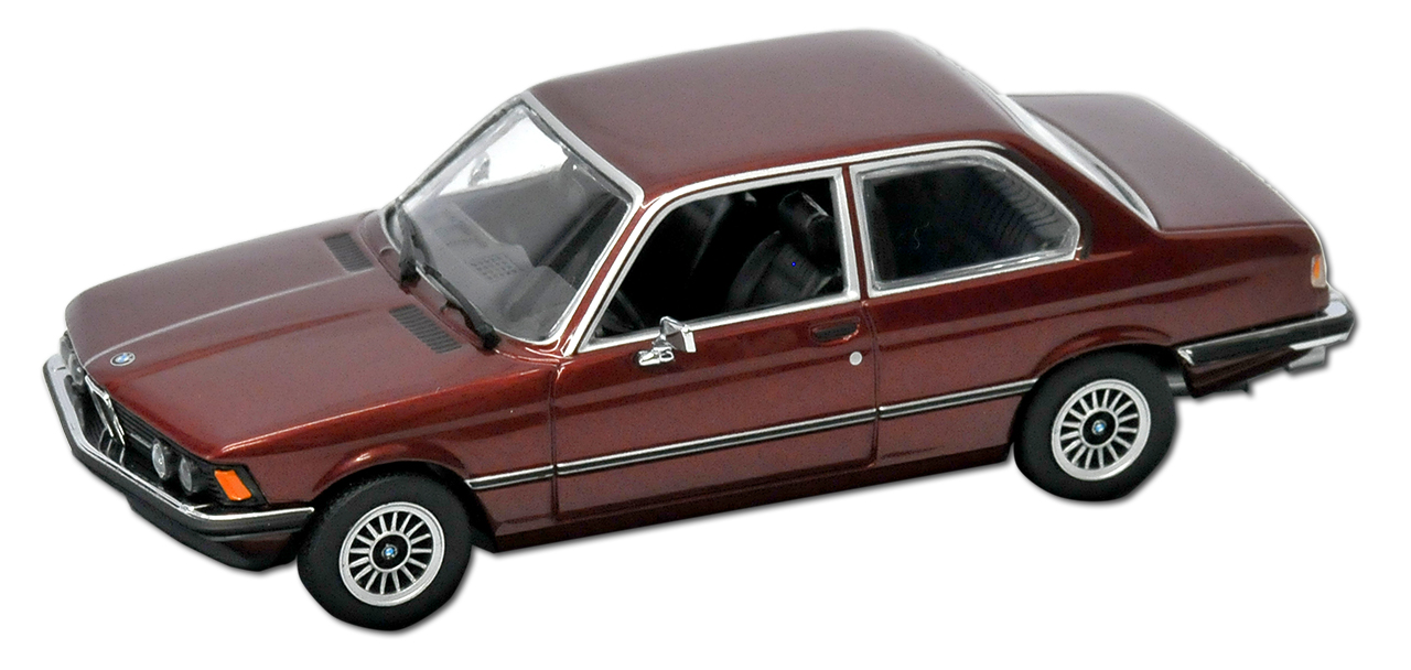 BMW-3er-e21-323i-COUPE-ROSSO-METALLIZZATO-1975-1983-1-43-Minichamps-MAXI-Champs-MODEL miniatura 7