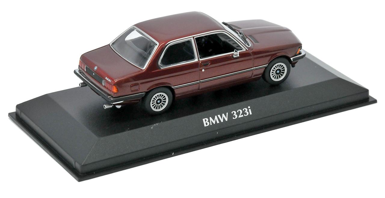 BMW-3er-e21-323i-COUPE-ROSSO-METALLIZZATO-1975-1983-1-43-Minichamps-MAXI-Champs-MODEL miniatura 8