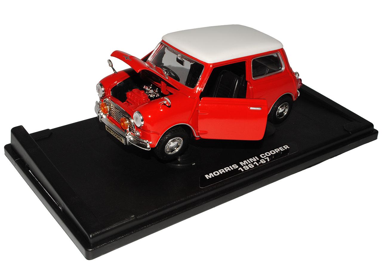 Morris Mini Cooper viejo el modelo rojo con blancoo techo techo techo Motormax 1959-2000 1 18... db2ffa