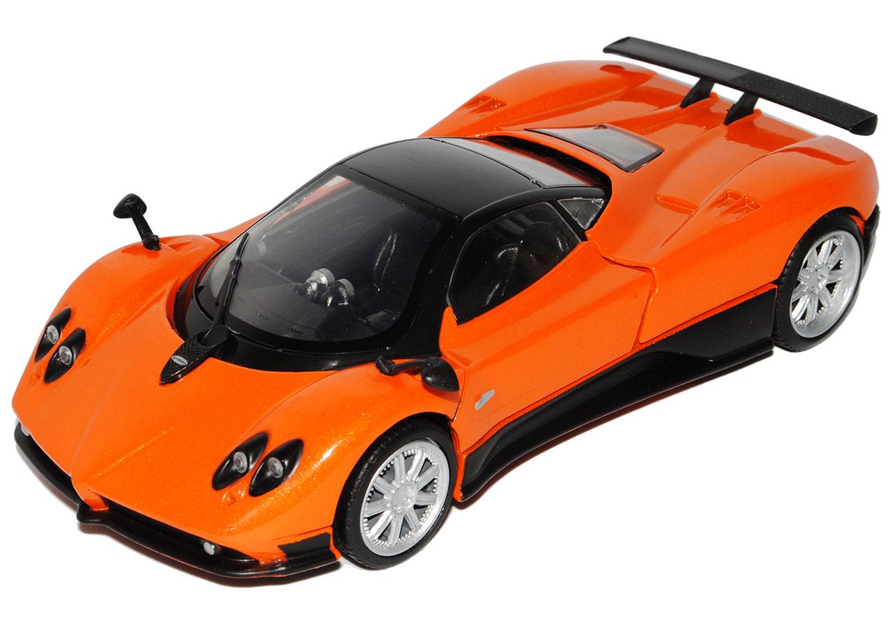 Pagani Zonda F Orange Schwarz 1//18 Motormax Modell Auto mit oder ohne individiue