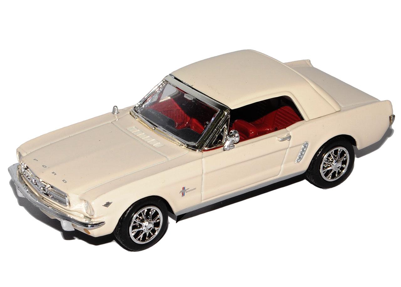 Ford-Mustang-1964-1-2-Coupe-1-43-color-beige-Motormax-modelo-coche-con-o-sin-indi miniatura 7