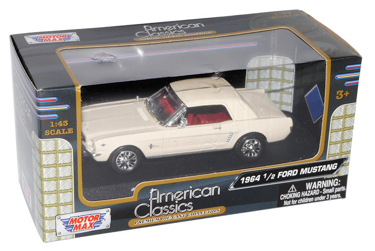 Ford-Mustang-1964-1-2-Coupe-1-43-color-beige-Motormax-modelo-coche-con-o-sin-indi miniatura 8