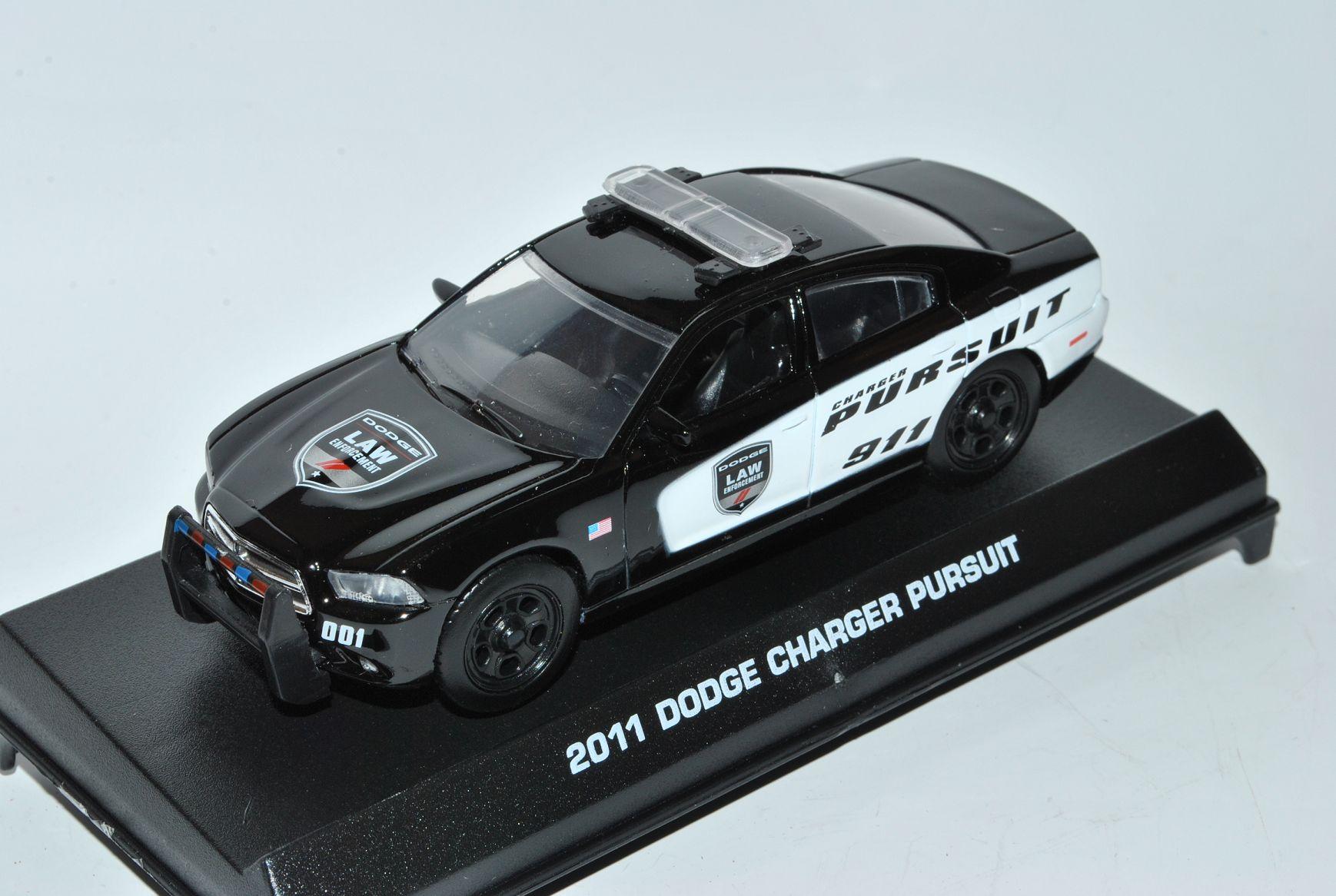 Dodge-Charger-Pursuit-2011-law-Police-911-policia-1-43-Motormax-modelo-coche-mie miniatura 6
