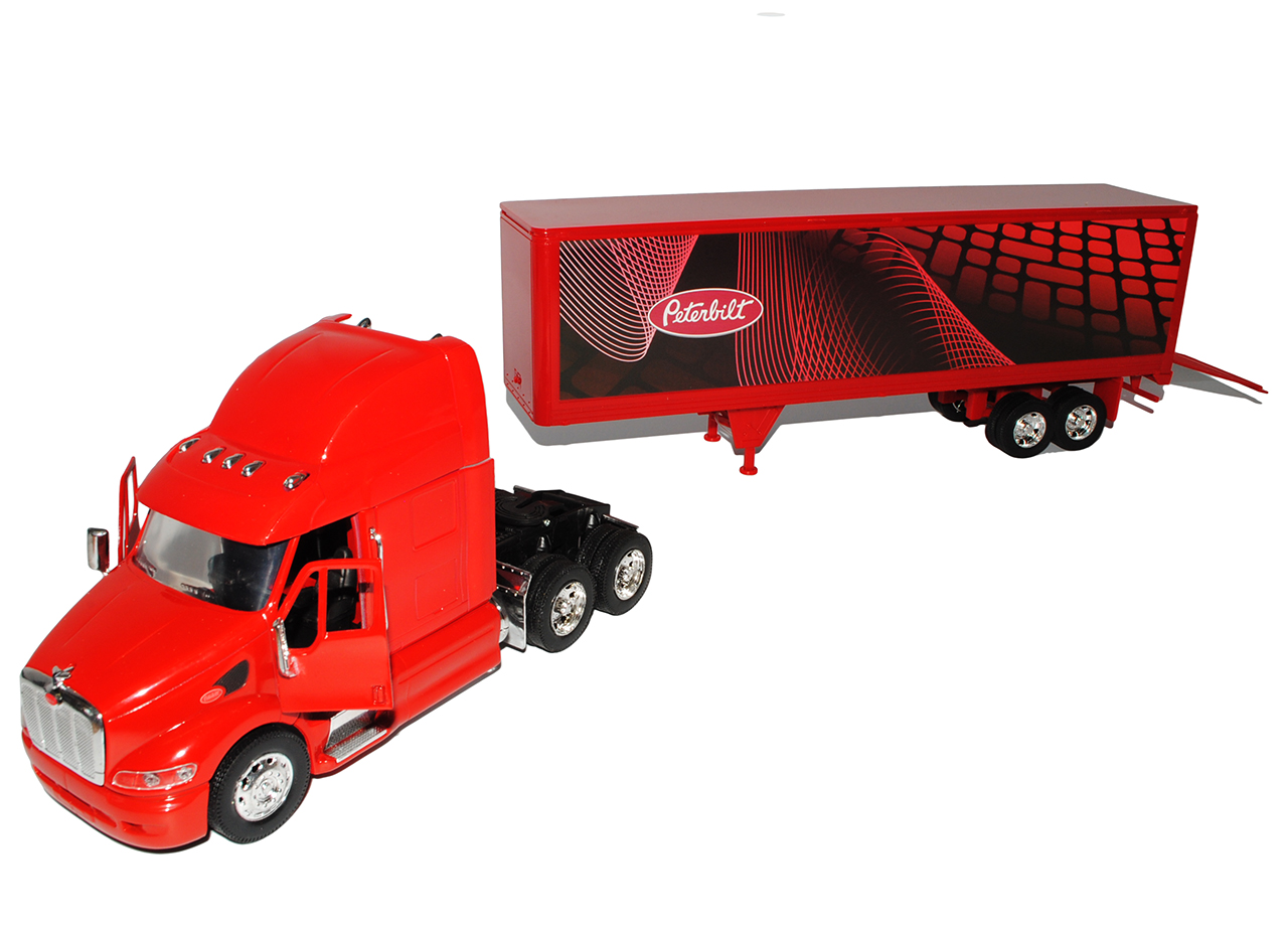 Peterbilt 387 Weiss Honda Motorsports Truck LKW 1//32 New Ray Modell Auto mit o..