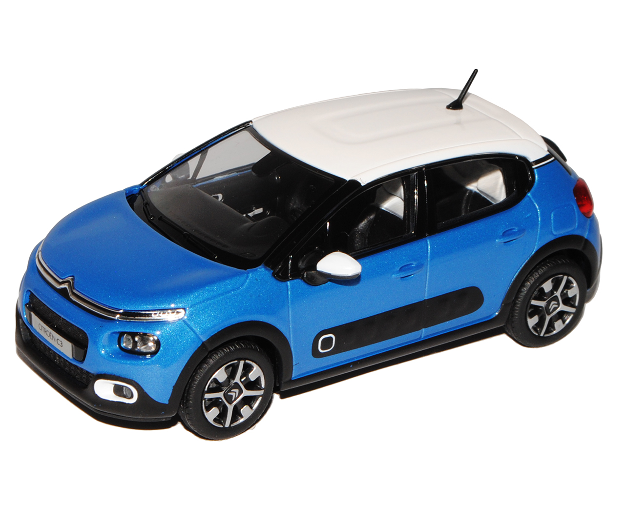 Citroen C3 blue mit whiteem Dach 3. Generation Generation Generation Ab 2016 1 43 Norev Modell Auto m.. 5d813d