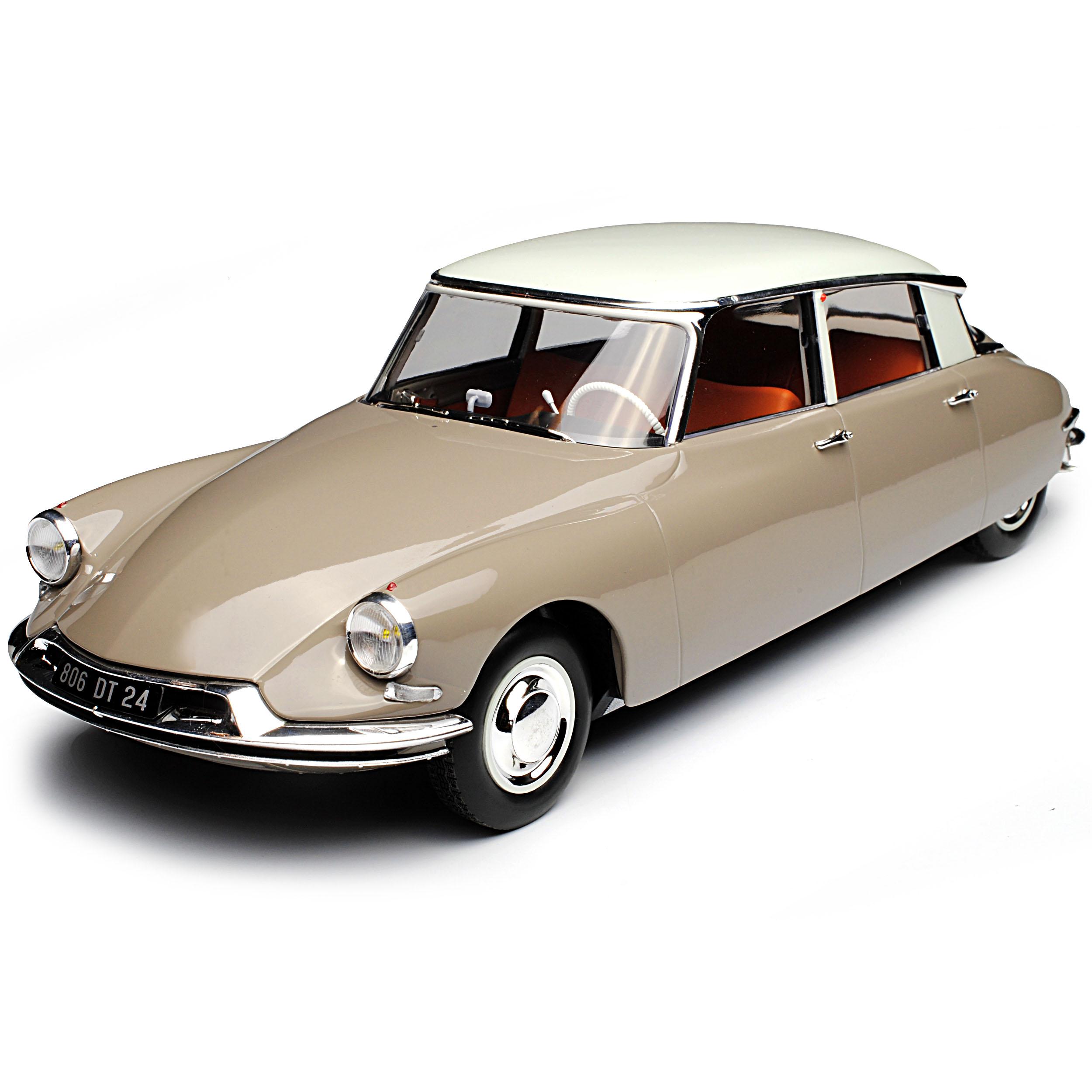 Citroen DS19 Limousine Braun mit Weißem Dach 1955-1968 1 18 18 18 Norev Modell Auto ..  | Qualität Produkt  252738