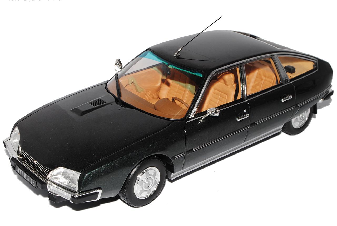Citroen-CX-2200-Pallas-limusina-gris-negro-la-serie-I-1-18-Norev-1974-1985-modelo miniatura 7