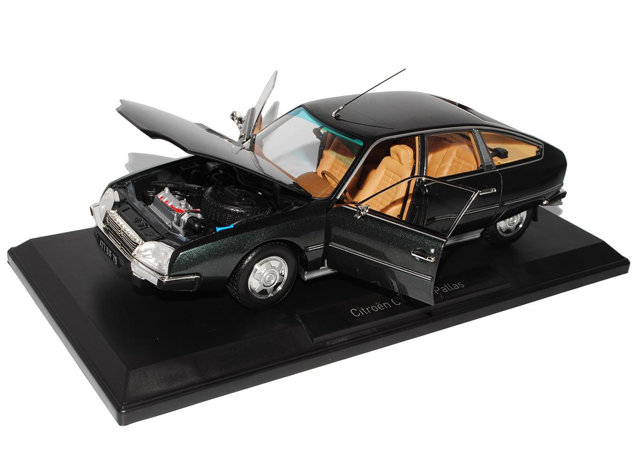 Citroen-CX-2200-Pallas-limusina-gris-negro-la-serie-I-1-18-Norev-1974-1985-modelo miniatura 8