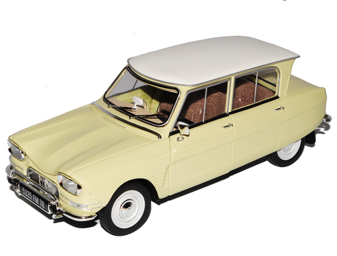 Citroen Ami 6 Beige Blanc toit 1961-1969 1 18 NOREV modèle voiture avec ou sans aucun...
