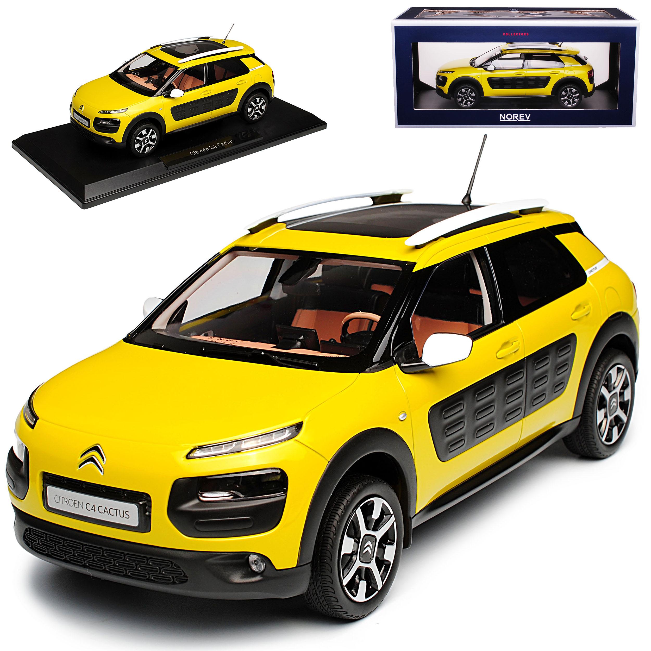 Citroen c4 cactus SUV verde giallo metalizado 1. Generation 2014-2018 1 18 norev mo...