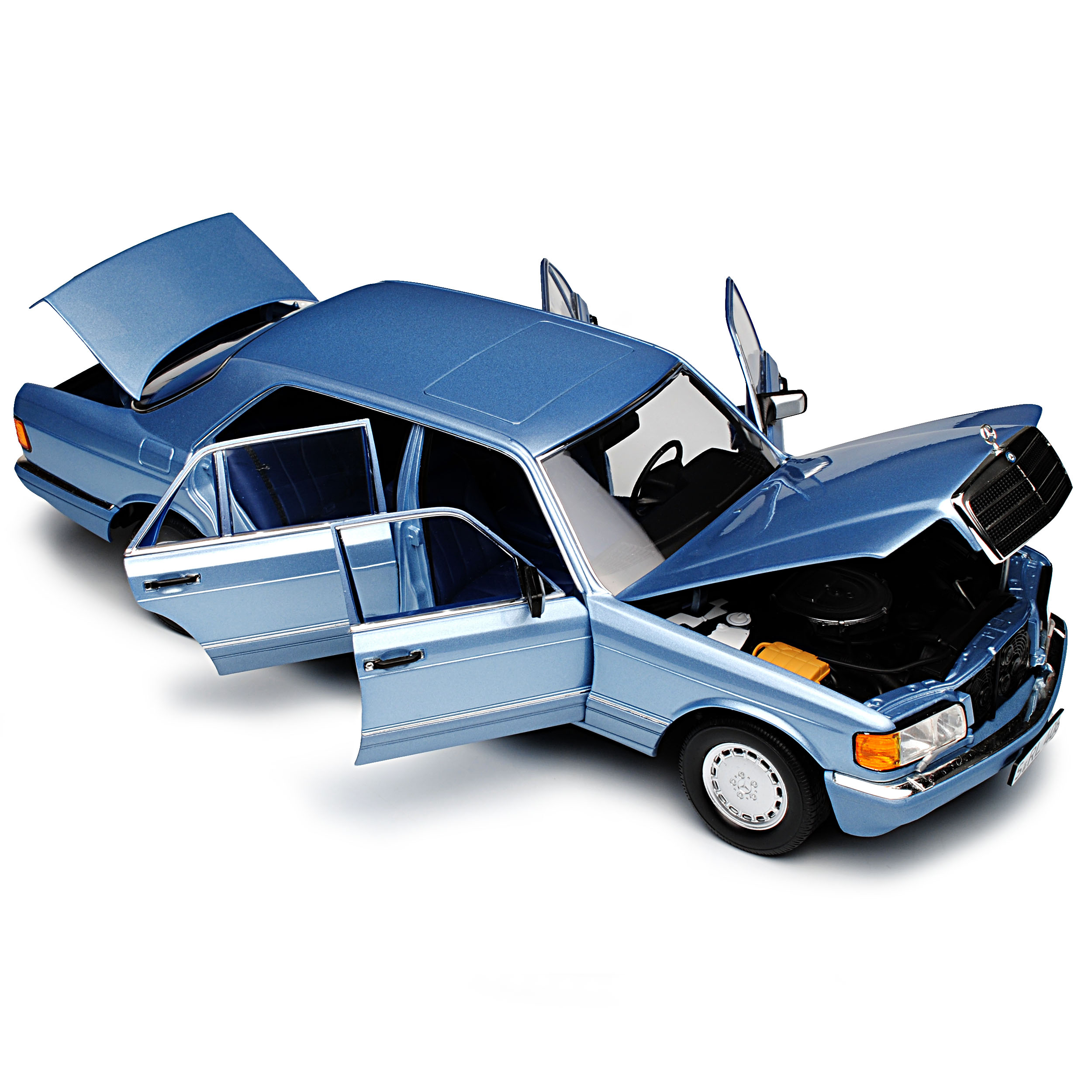 Mercedes-Benz 560 SEL S-Class Bright Blue Metallic W126