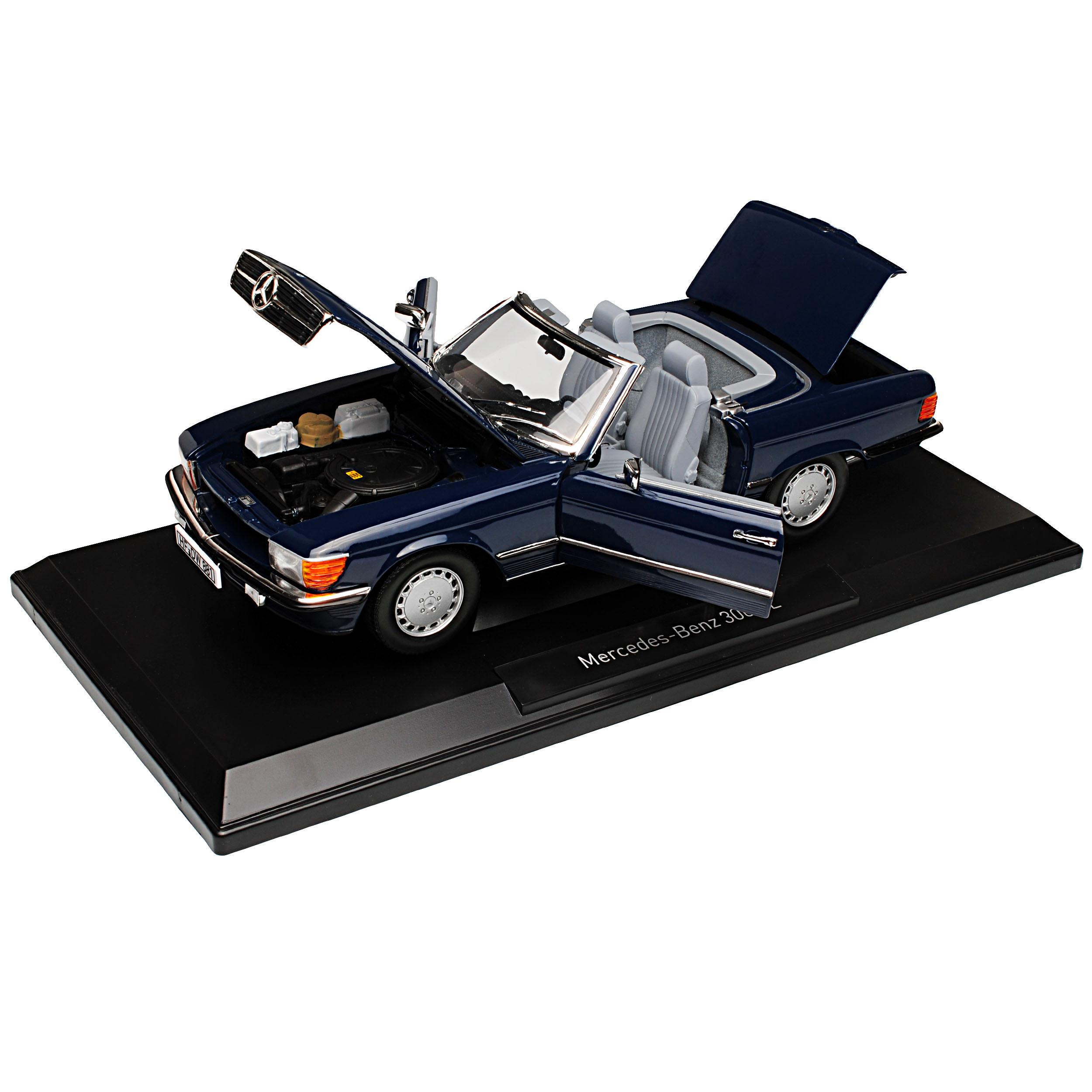 Mercedes Benz R 107-300 SL Cabrio//Softtop Blau 1:18 Neu OVP