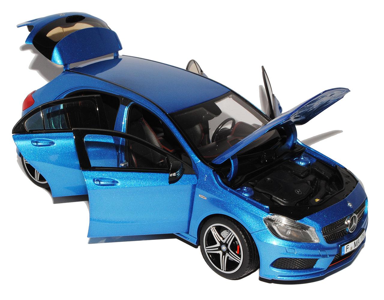 Mercedes-benz a-clase azul metalizado Sport w176 a partir de de de 2012 1 18 norev modelo coche... d003a1