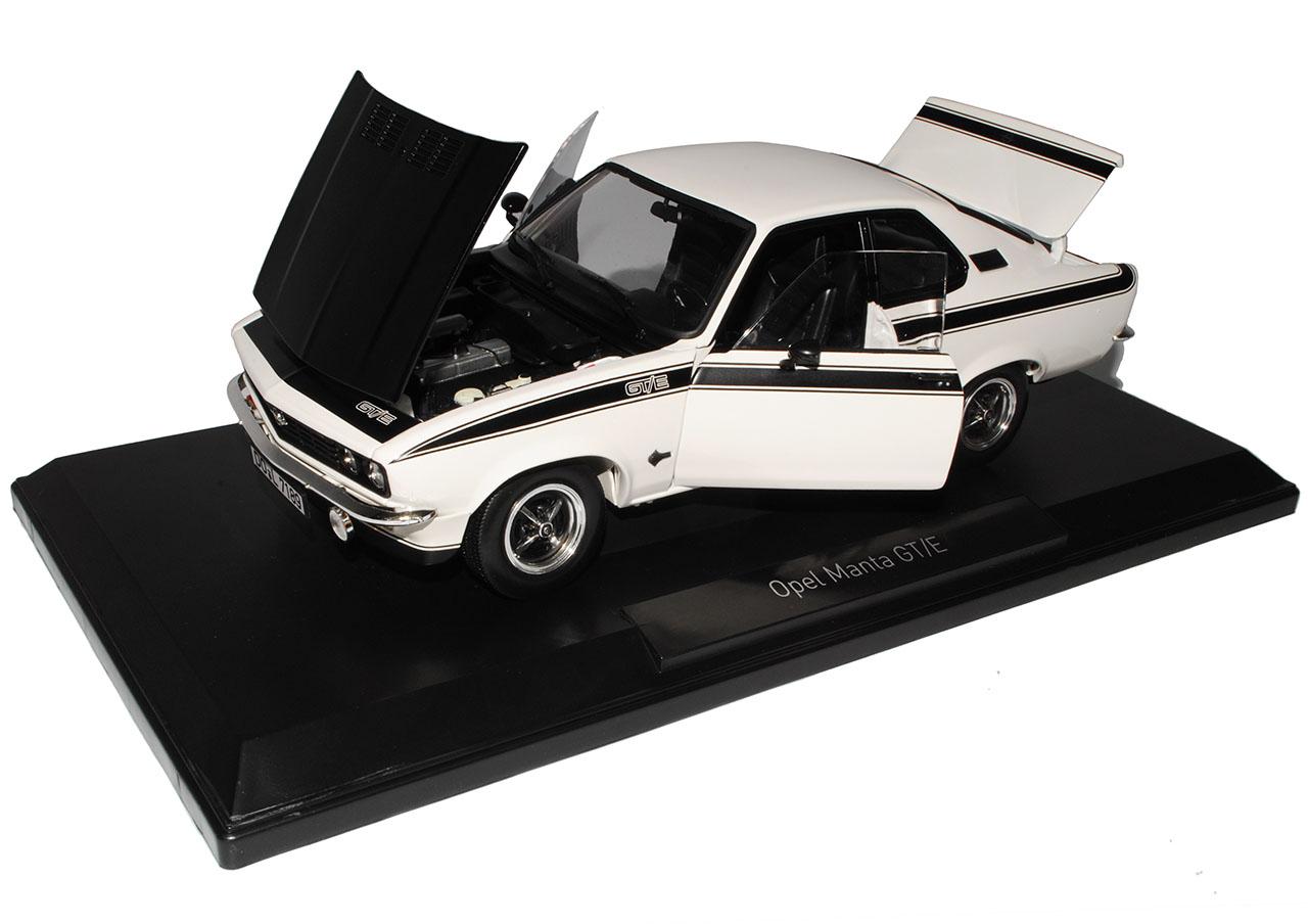 Opel Manta A GT E E E Blanc Avec Noir Coupe 1970-1975 1 18 NOREV modèle voiture avec... 72ac02