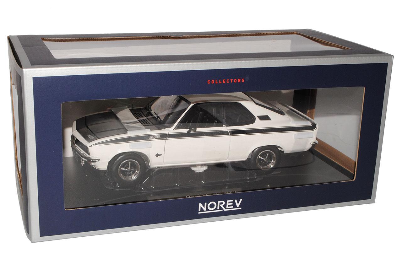 Opel Opel Opel Manta A GT E Blanc Avec Noir Coupe 1970-1975 1 18 NOREV modèle voiture avec... 5d7b64