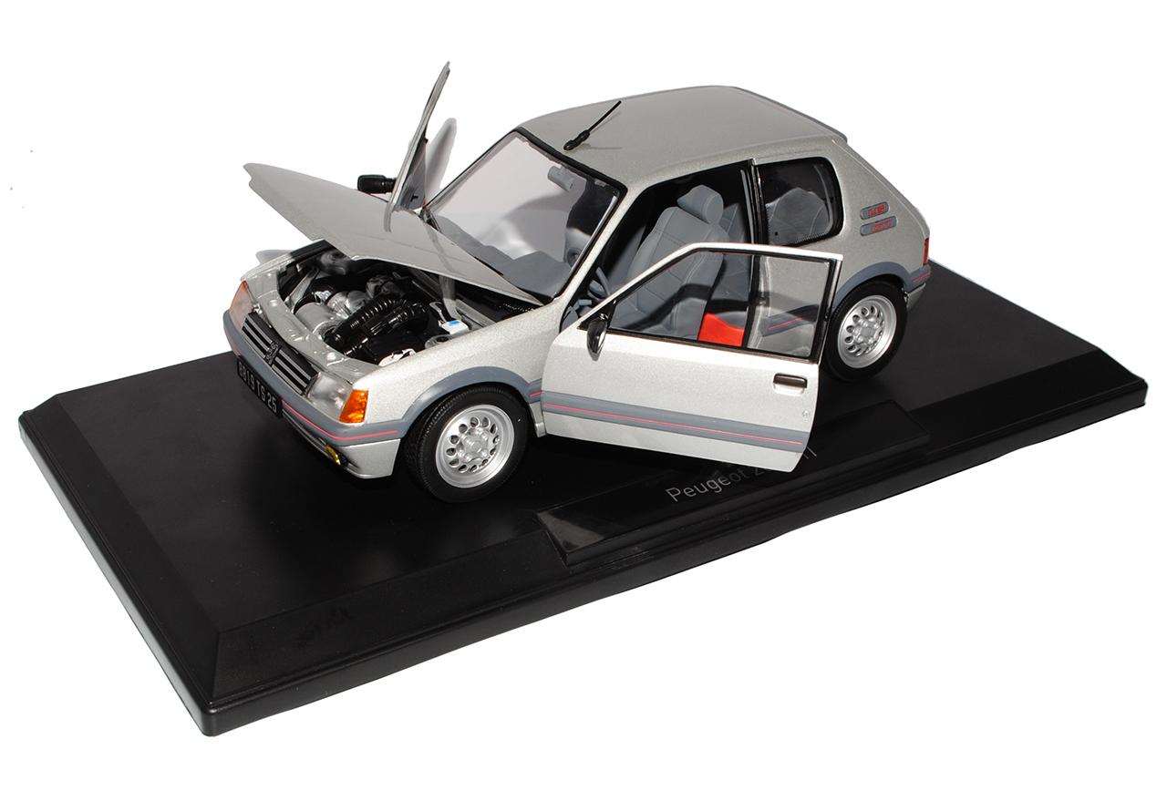 Peugeot-205-GTI-1-6-de-plata-1983-1998-gris-1-18-Norev-modelos-coches-con-o-sin miniatura 6