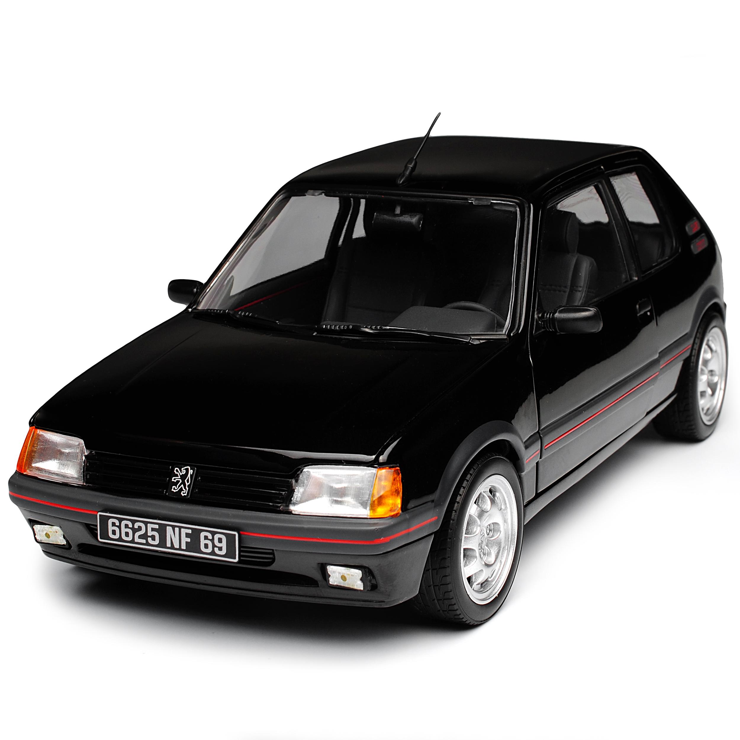 Peugeot-205-GTI-1-9-negro-1983-1998-1-18-Norev-modelos-coches-con-o-sin-ind miniatura 8