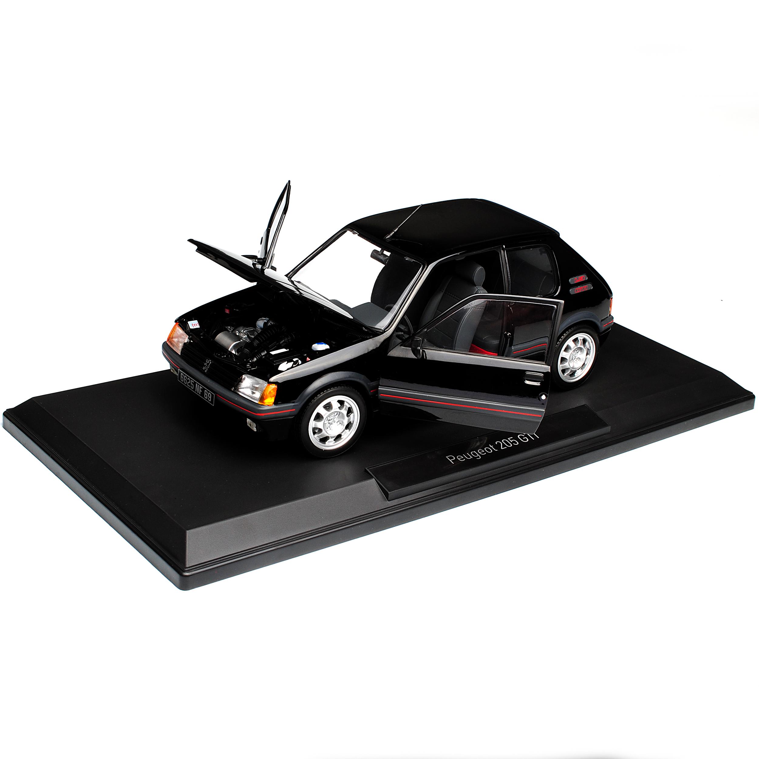 Peugeot-205-GTI-1-9-negro-1983-1998-1-18-Norev-modelos-coches-con-o-sin-ind miniatura 9