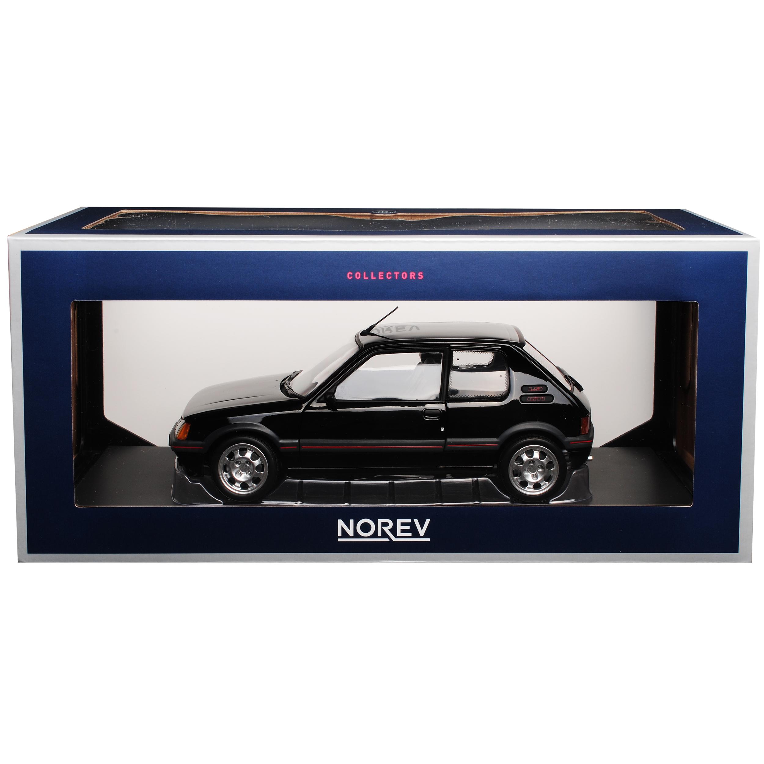 Peugeot-205-GTI-1-9-negro-1983-1998-1-18-Norev-modelos-coches-con-o-sin-ind miniatura 10