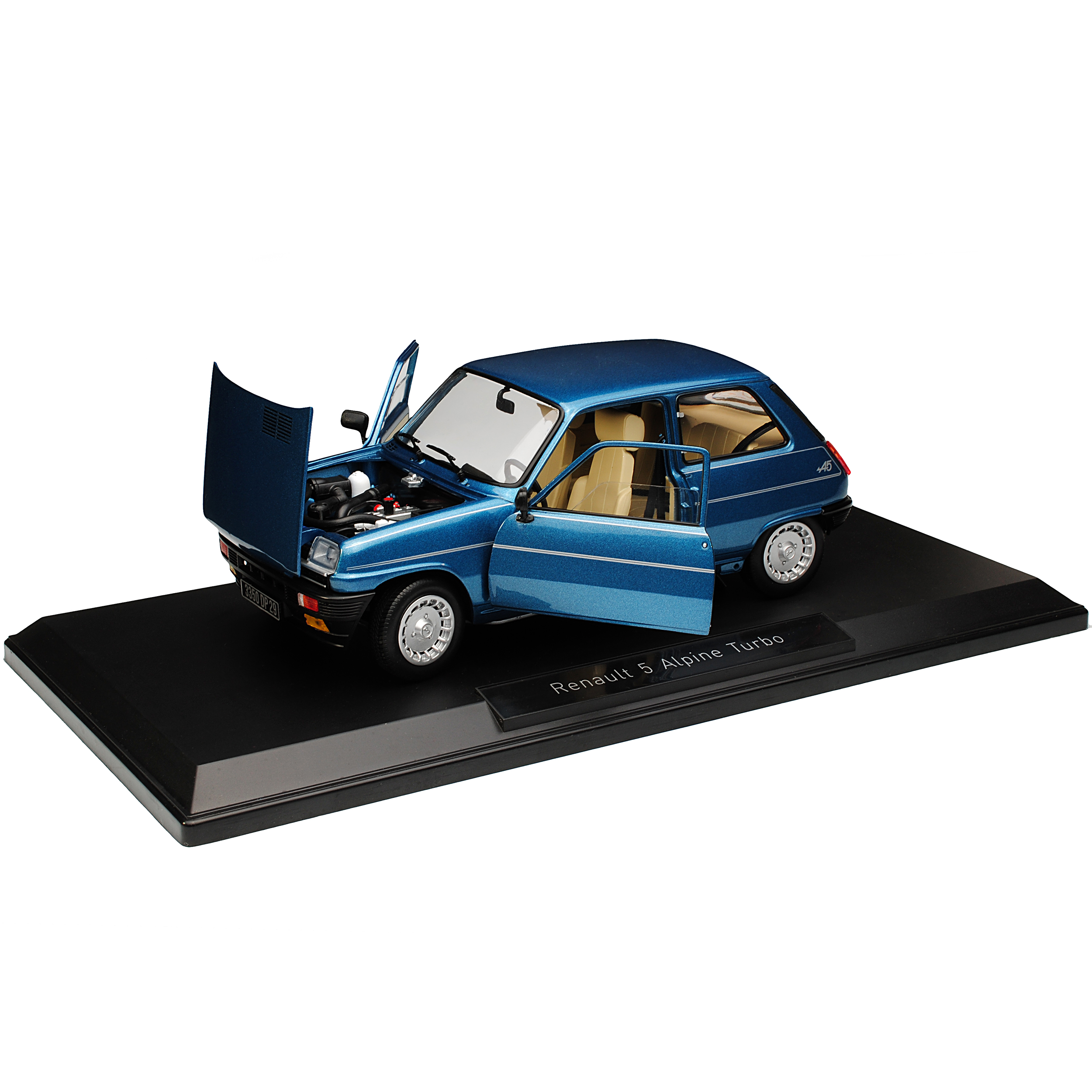 Renault-5-R5-Alpine-Turbo-azul-1-generacion-1972-1984-1-18-Norev-modelos-coches miniatura 9