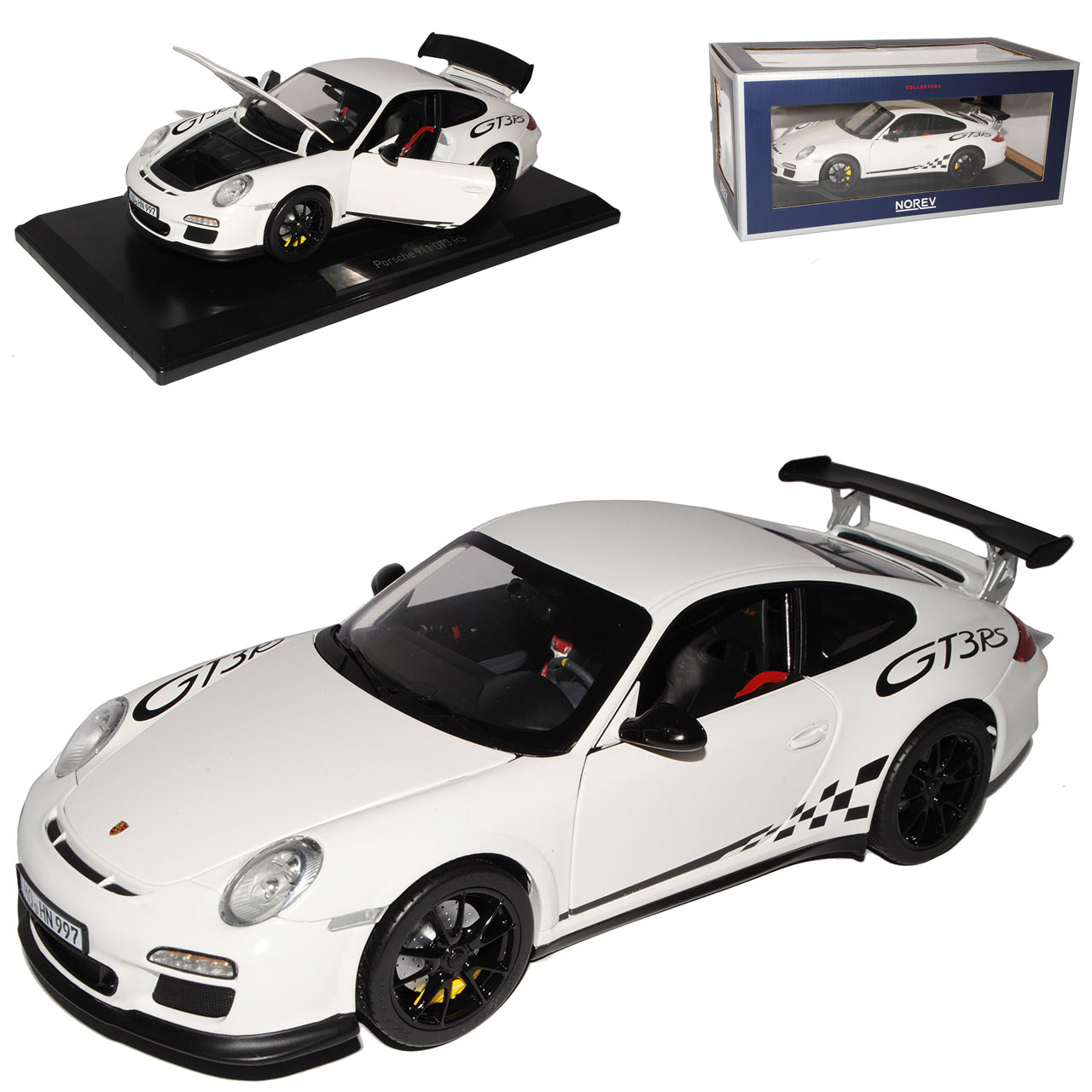 Porsche 911 997 gt3 rs Blanc 2004-2011 1 18 NOREV modèle voiture avec ou sans dans...
