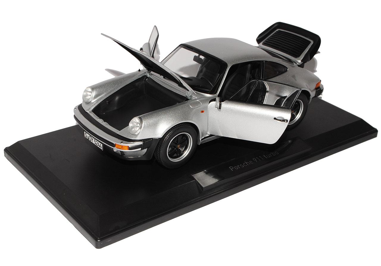 Porsche 911 Turbo 3.3 L Silber Coupe G-Modell 1973-1989 1//18 Norev Modell Auto m