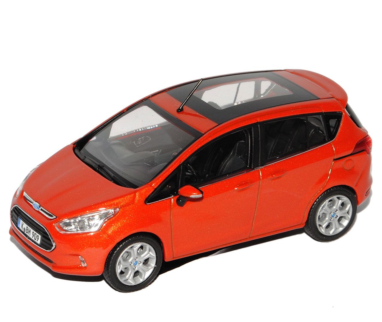 Ford-B-Max-Ab-2012-Rot-Metallic-1-43-Norev-Modell-Auto-mit-oder-ohne-individiu miniatuur 8