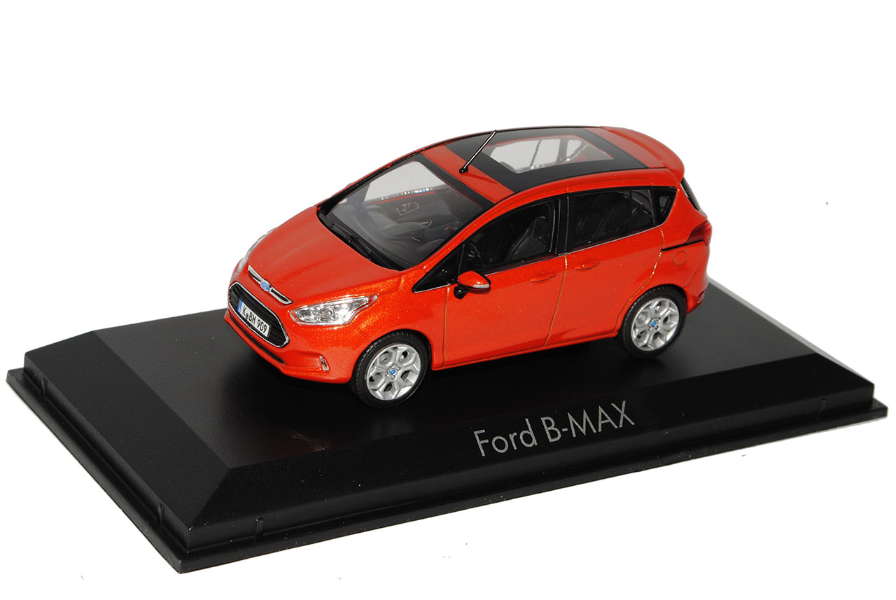 Ford-B-Max-Ab-2012-Rot-Metallic-1-43-Norev-Modell-Auto-mit-oder-ohne-individiu miniatuur 9