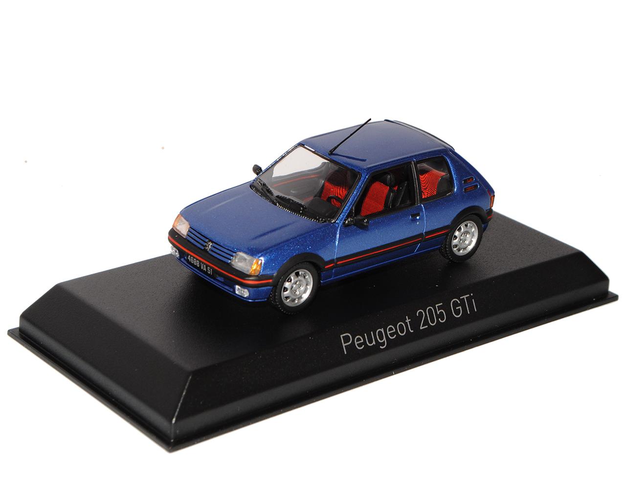 Norev Peugeot 205 GTI 1.6 Silber Grau 1983-1998 1//18 Modell Auto